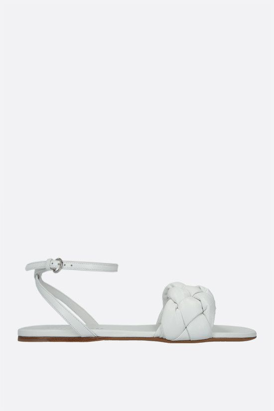 MIU MIU: soft nappa flat sandals Color White_1