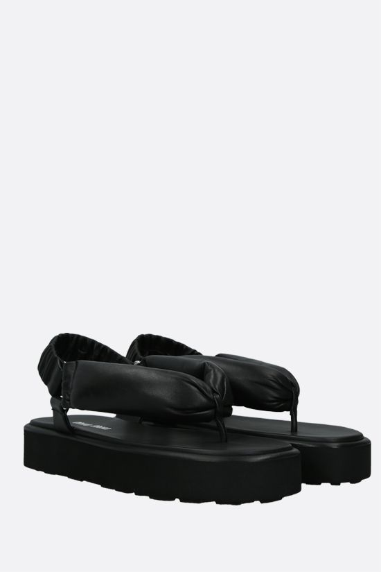 MIU MIU: soft nappa thong sandals Color Black_2