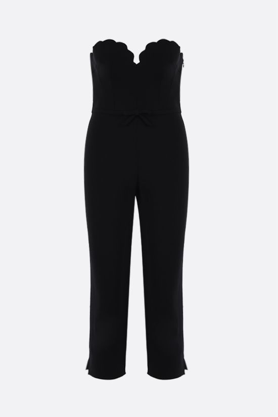MIU MIU: bow-detailed faille cady jumpsuit Color Black_1