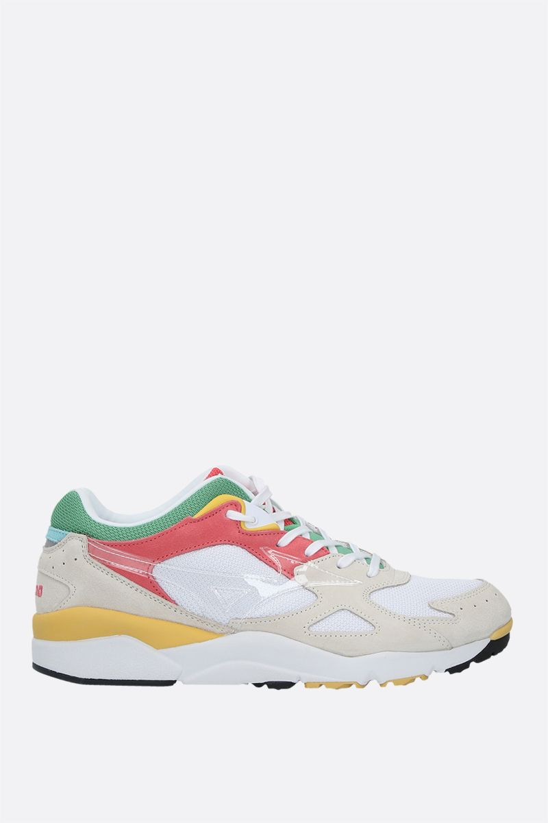 MIZUNO: Sky Medal S mesh and suede sneakers Color White_1