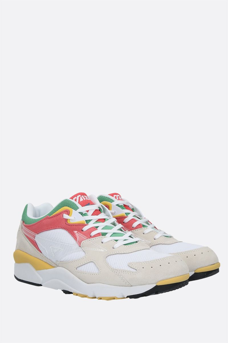 MIZUNO: Sky Medal S mesh and suede sneakers Color White_2