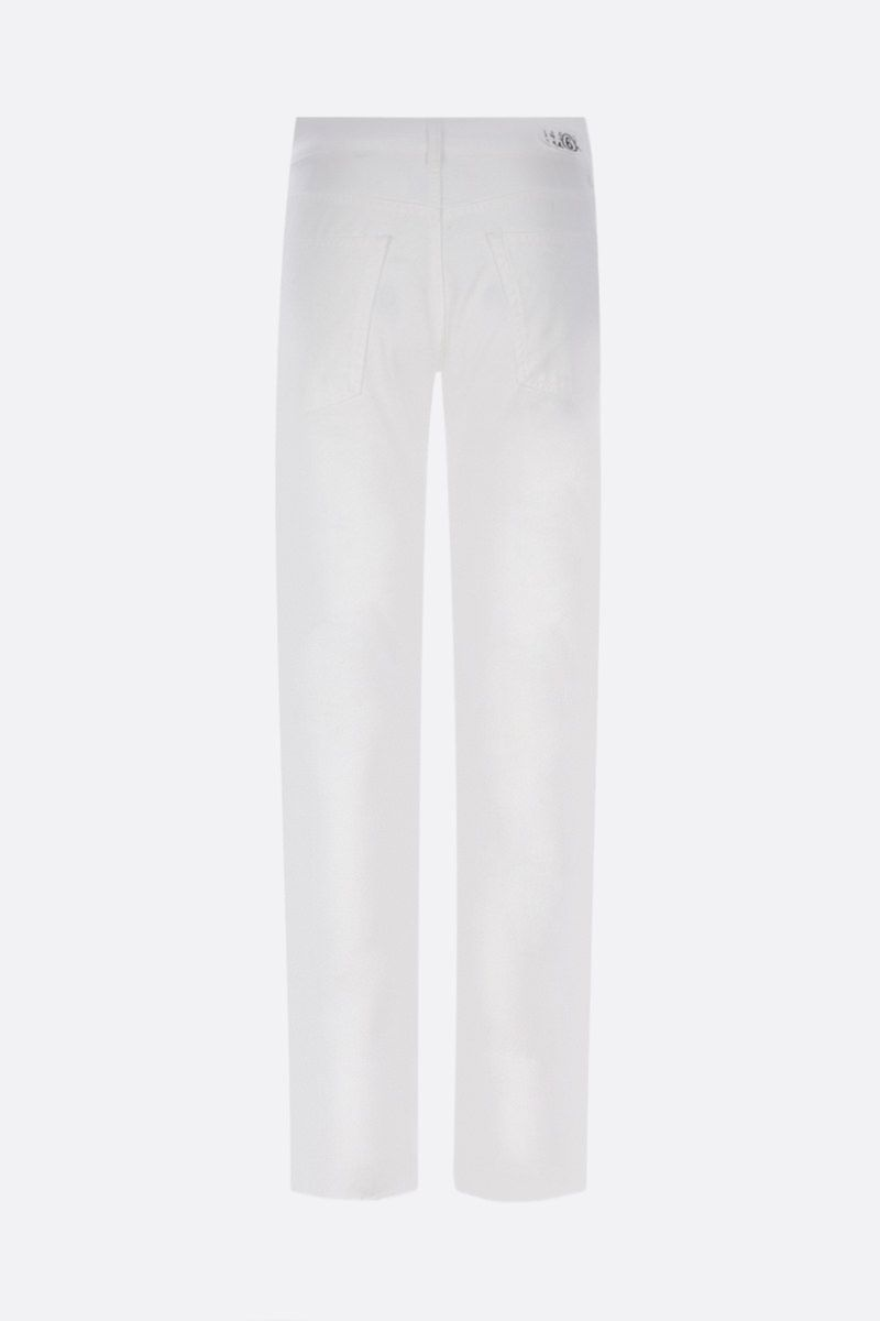 MM6: jeans slim-fit Colore White_2