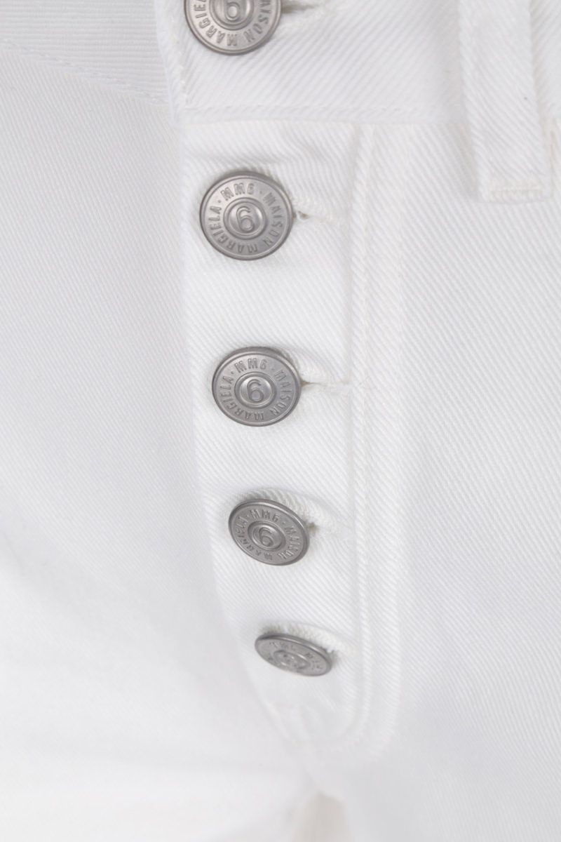 MM6: jeans slim-fit Colore White_4