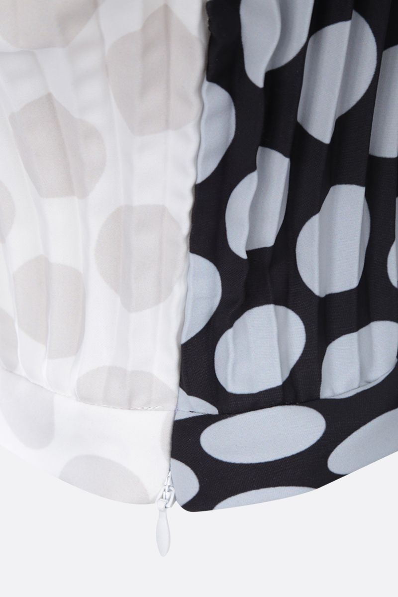 MM6: top cropped in poliestere stampa pois Colore White_4