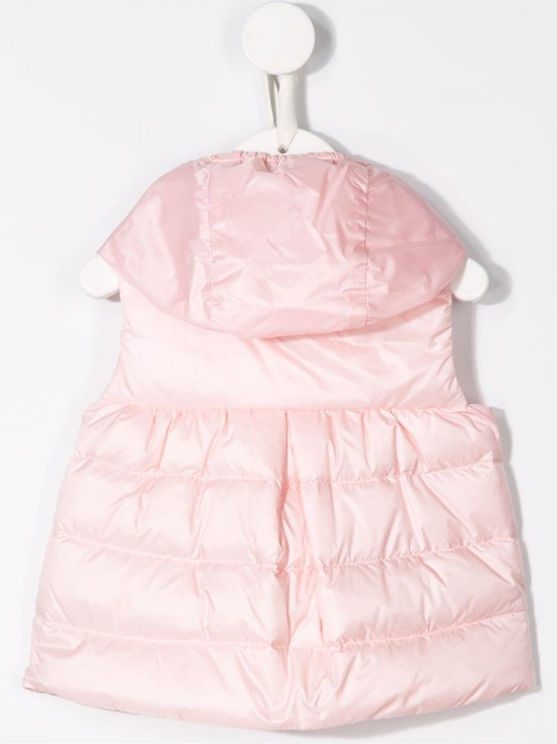 MONCLER KIDS: New Suzette nylon sleeveless down jacket Color Pink_2