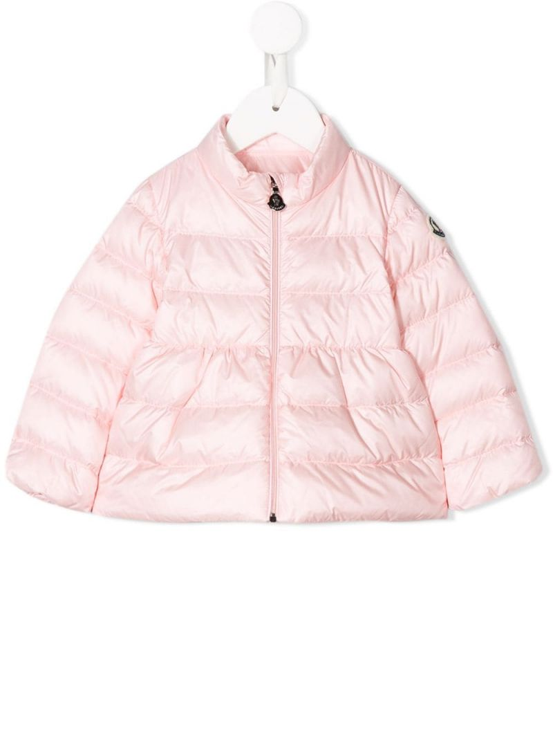 MONCLER KIDS: Joelle nylon down jacket Color Pink_1