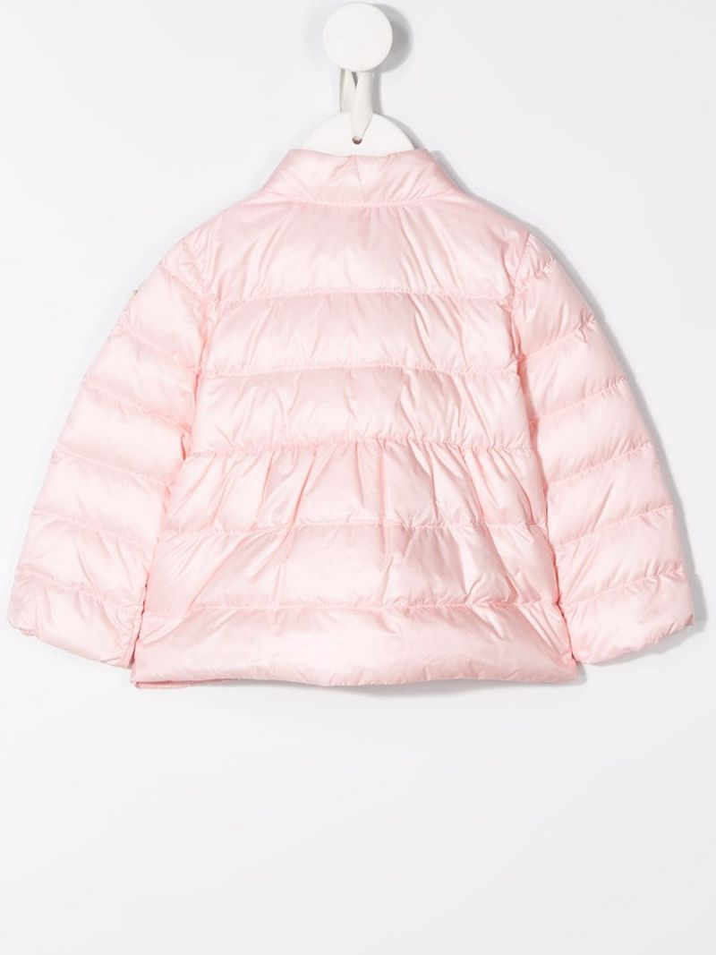 MONCLER KIDS: Joelle nylon down jacket Color Pink_2