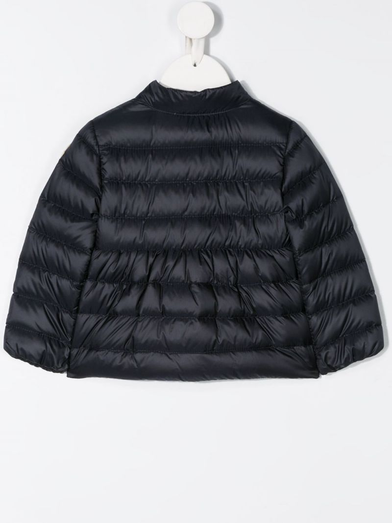MONCLER KIDS: Joelle nylon down jacket Color Blue_2