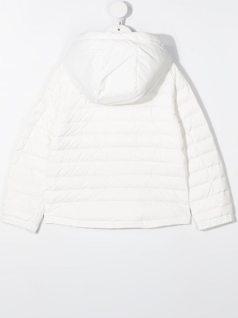 MONCLER KIDS: Sill nylon down jacket Color White_2