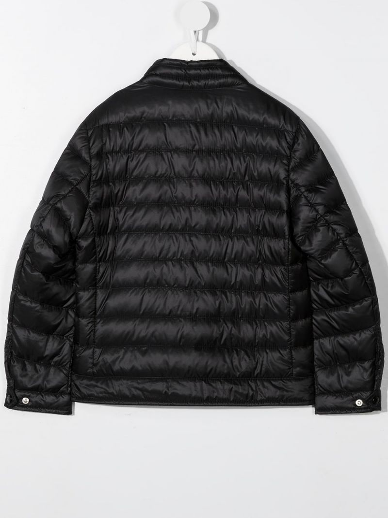 MONCLER KIDS: Nasses nylon down jacket Color Black_2