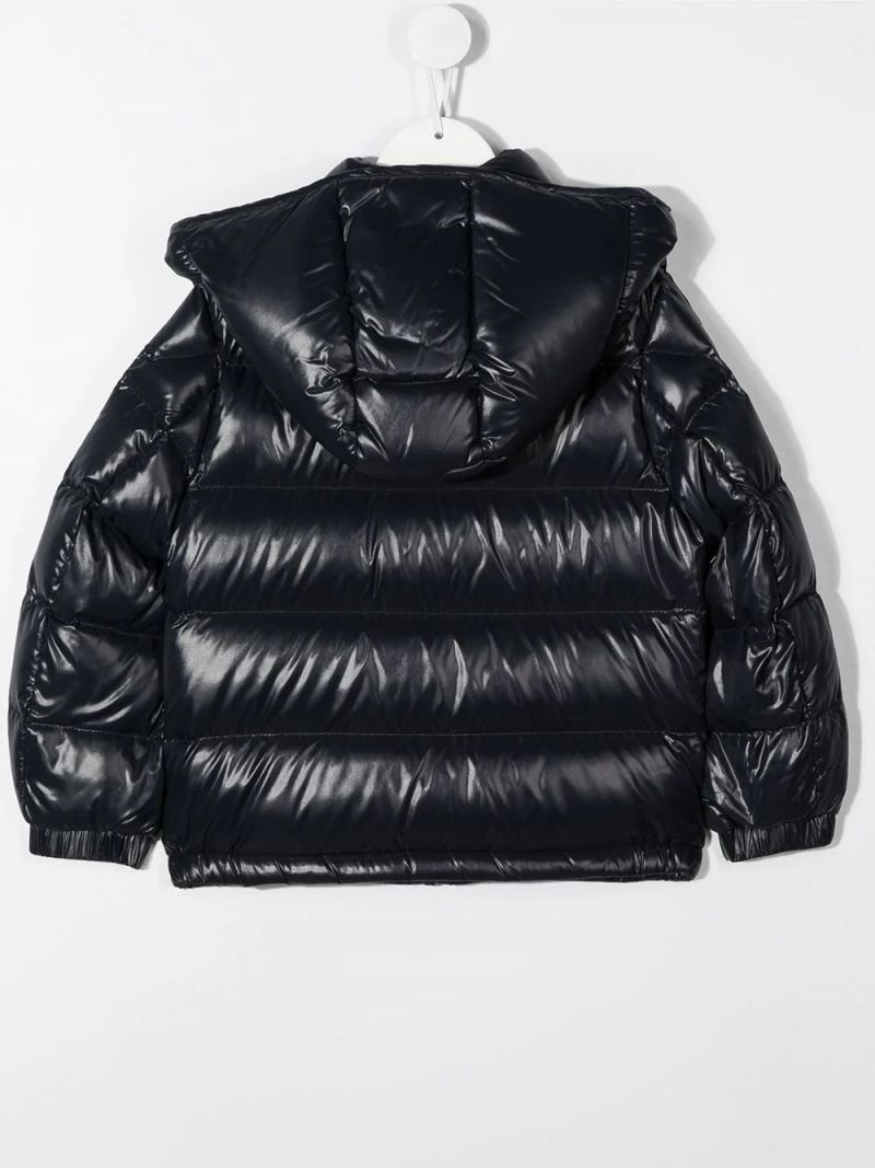 MONCLER KIDS: Dumon laquè nylon down jacket Color Blue_2