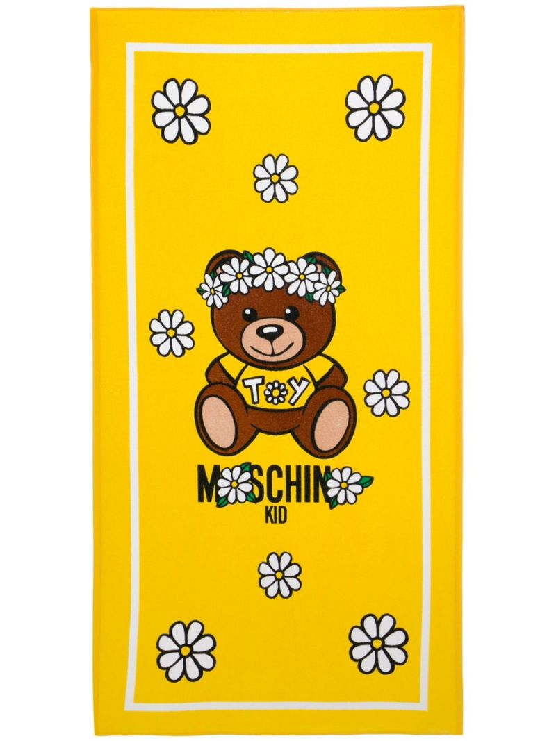 MOSCHINO KIDS: Daisy Teddy Bear terrycloth beach towel Color Yellow_2