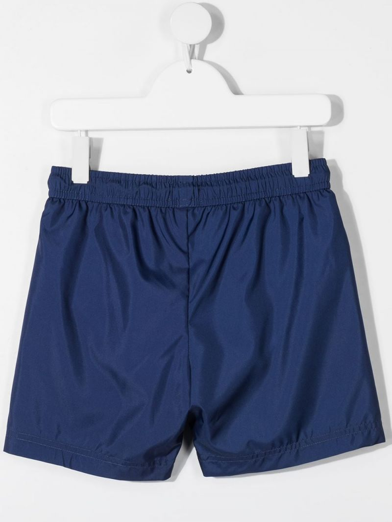 MOSCHINO KIDS: Pirate Teddy Bear nylon swim shorts Color Blue_2