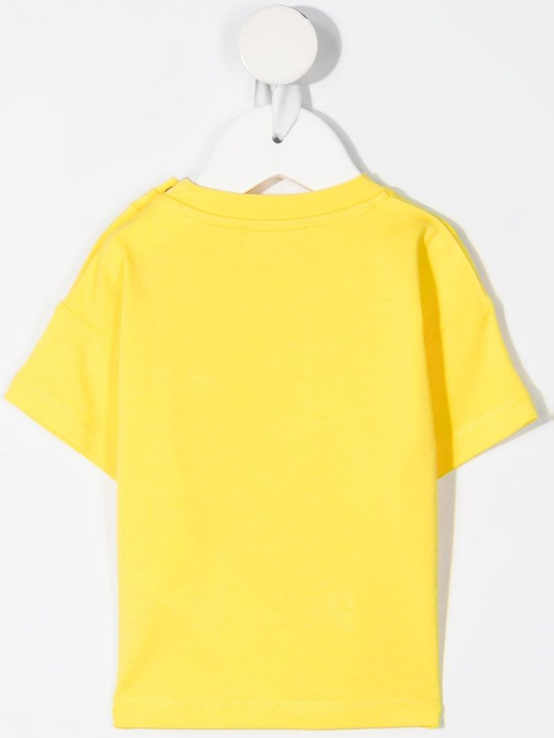 MOSCHINO KIDS: Daisy Teddy Bear stretch cotton t-shirt Color Yellow_2