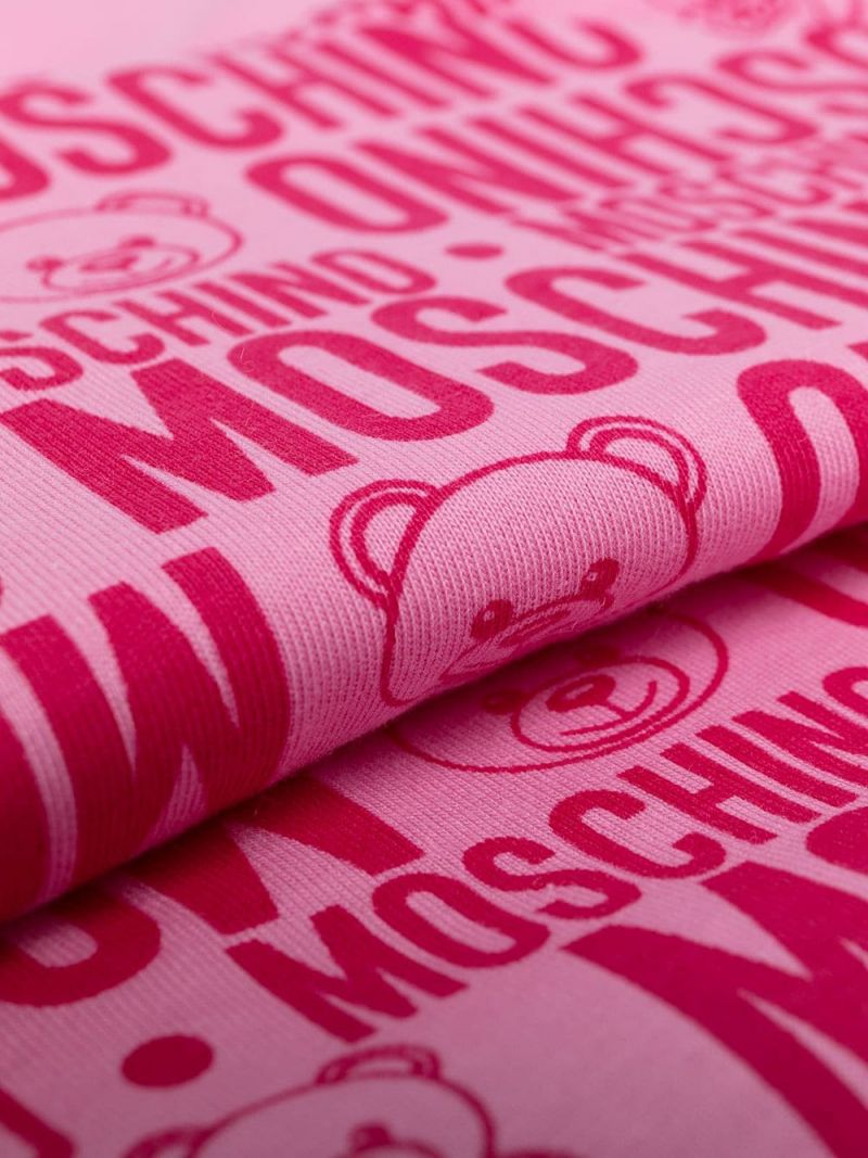 MOSCHINO KIDS: logo print cotton padded sleeping bag Color Purple_2