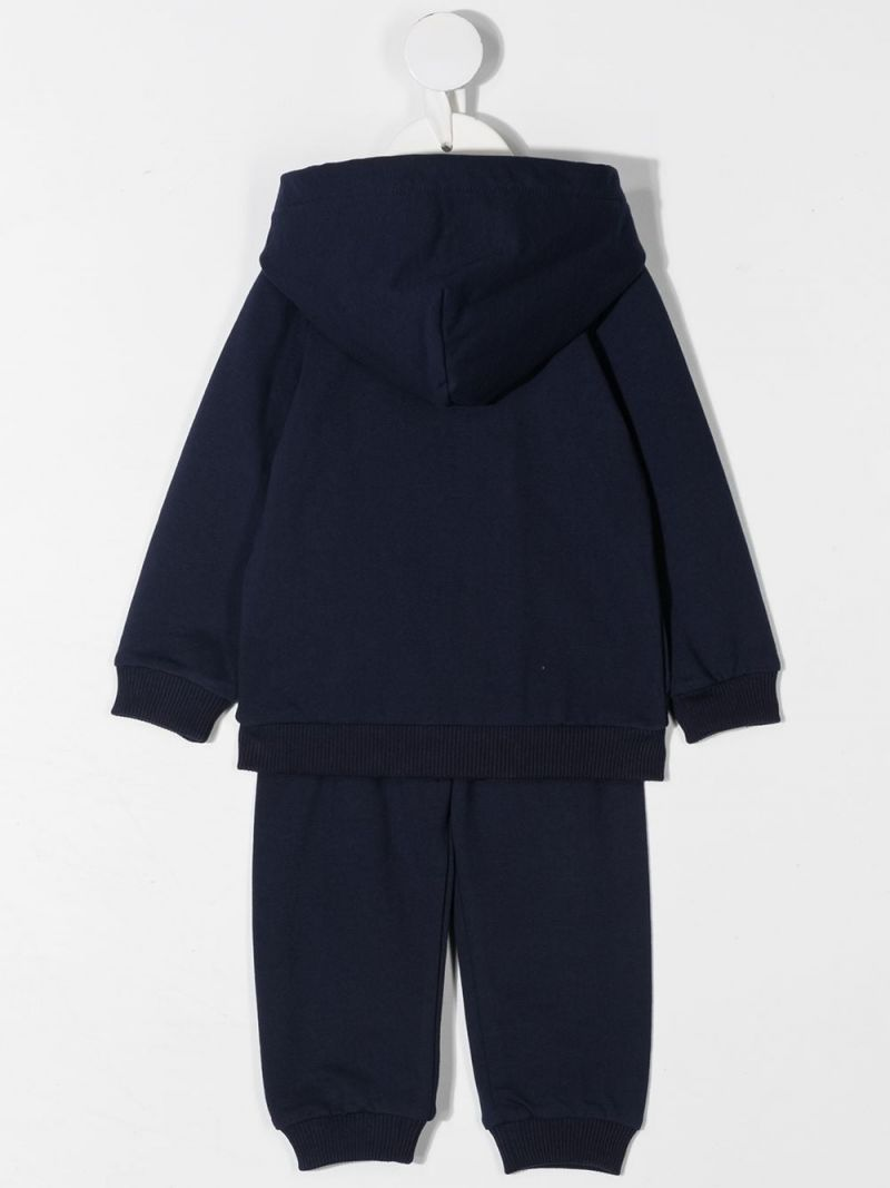 MOSCHINO KIDS: Moschino Teddy Bear stretch cotton tracksuit Color Blue_2
