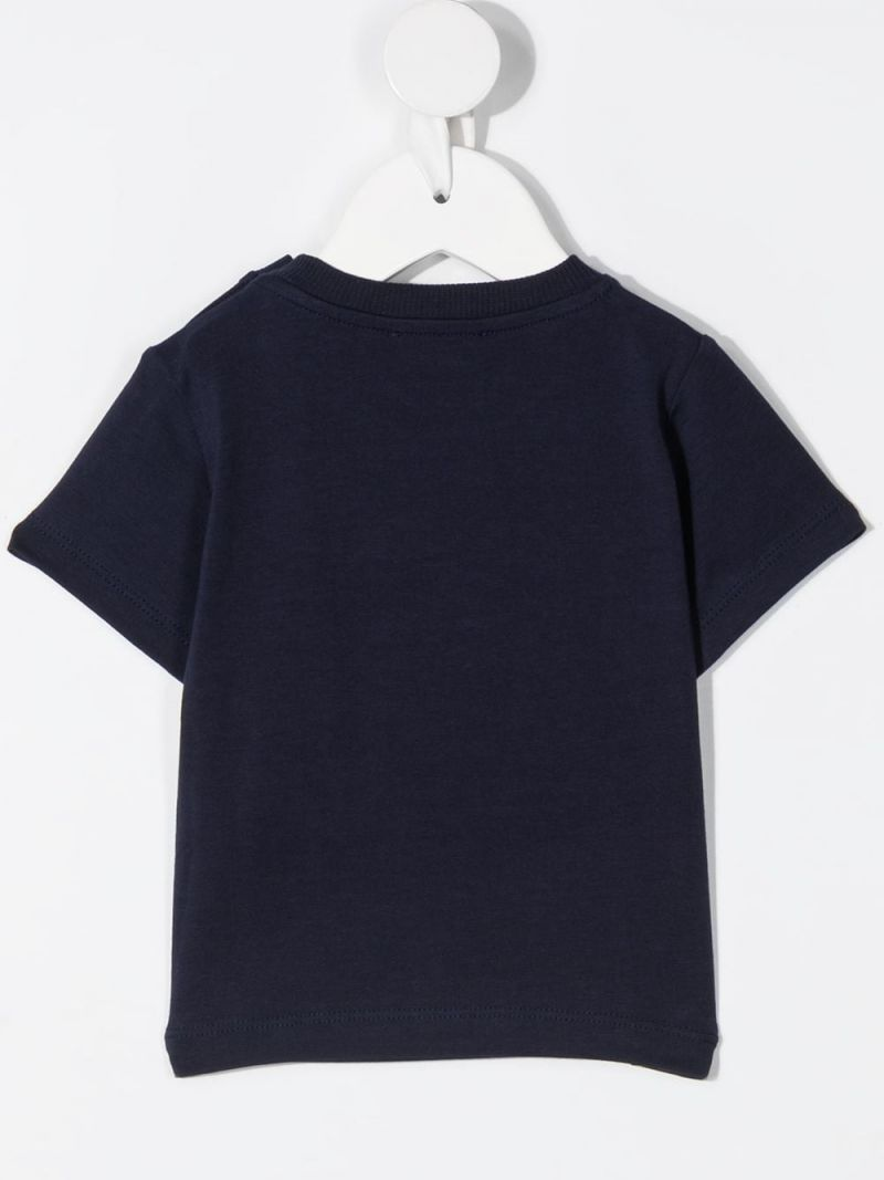 MOSCHINO KIDS: Pirate Teddy Bear stretch cotton t-shirt Color Blue_2