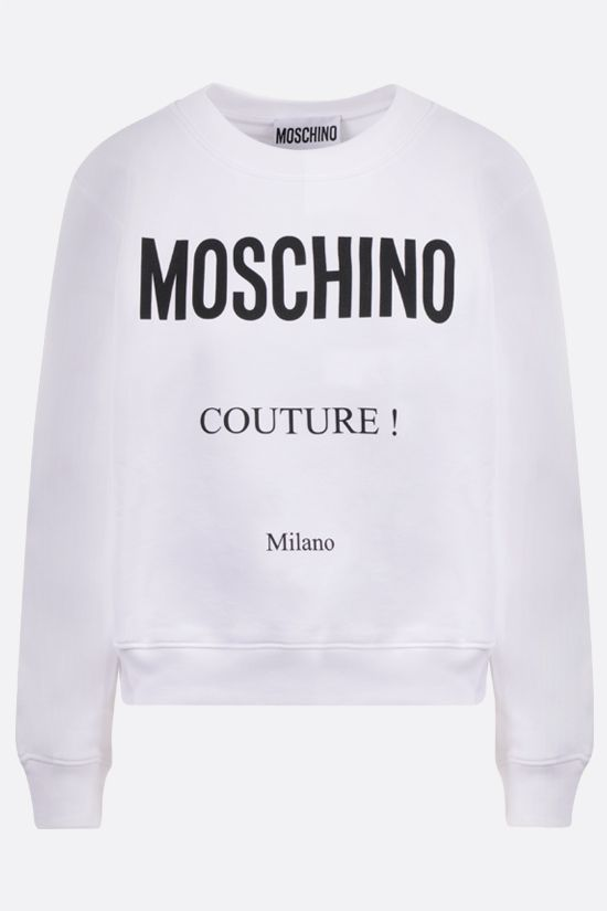 MOSCHINO: Moschino Couture! print cotton sweatshirt Color White_1