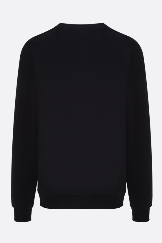 MOSCHINO: Moschino print cotton sweatshirt Color Black_2
