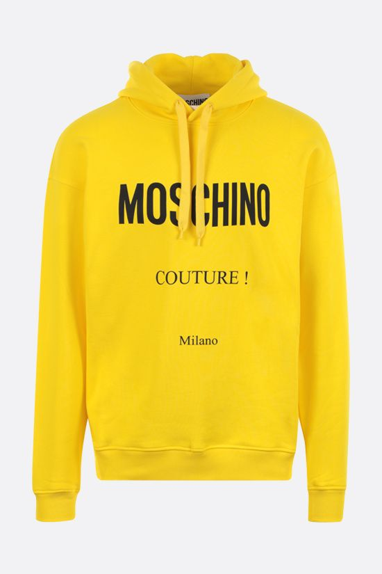 MOSCHINO: Moschino Couture! cotton hoodie Color Yellow_1