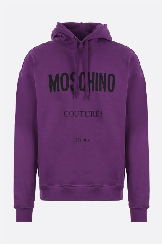 MOSCHINO: Moschino Couture! cotton hoodie Color Purple_1