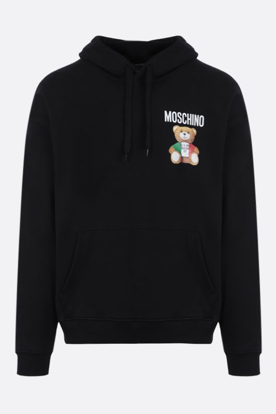 MOSCHINO: Italian Teddy Bear cotton hoodie Color Black_1