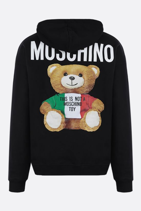 MOSCHINO: Italian Teddy Bear cotton hoodie Color Black_2