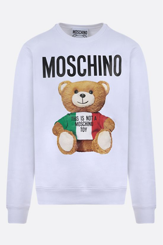 MOSCHINO: Italian Teddy Bear cotton sweatshirt Color White_1