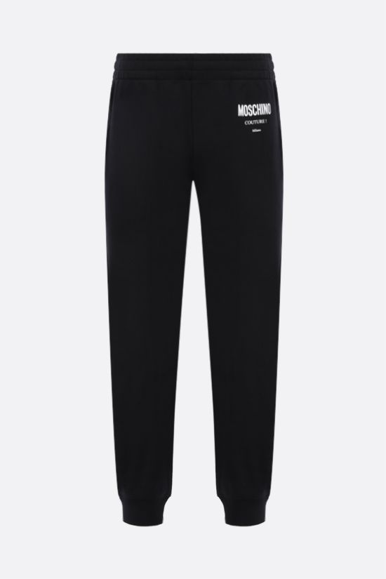 MOSCHINO: Moschino Couture! cotton joggers Color Black_1