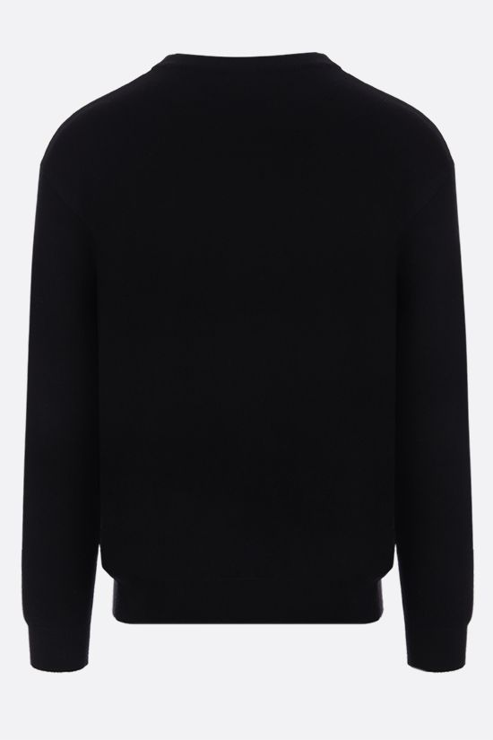 MOSCHINO: Teddy Bear intarsia cotton pullover Color Black_2