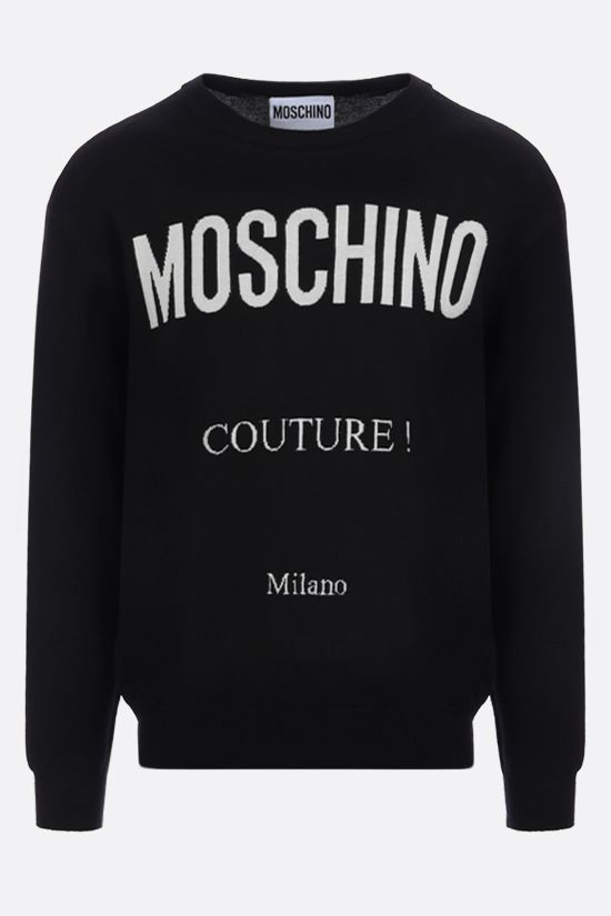 MOSCHINO: Moschino Couture! cotton cashmere blend pullover Color Black_1