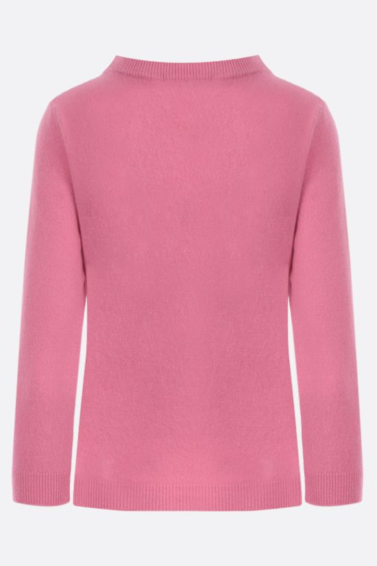 MOSCHINO: Moschino Couture! wool cashmere blend cropped pullover Color Pink_2