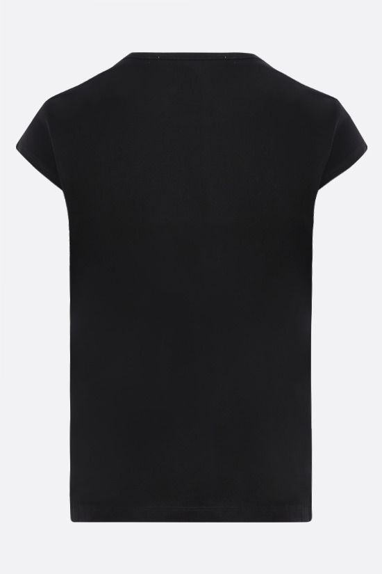 MOSCHINO: Italian Teddy Bear cotton t-shirt Color Black_2