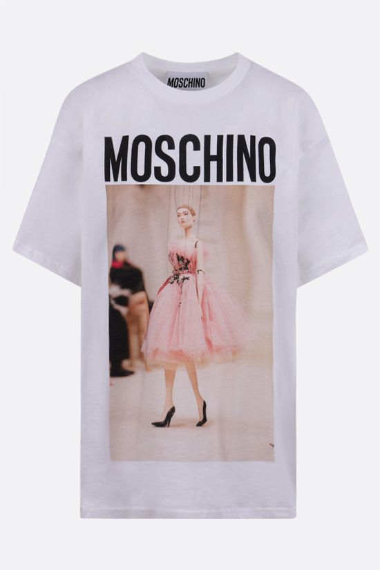 MOSCHINO: No Strings Attached oversize cotton t-shirt Color White_1