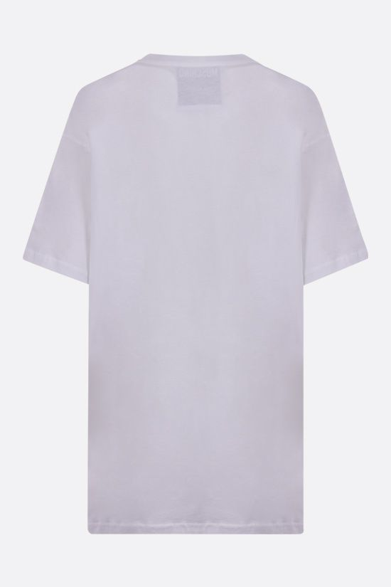 MOSCHINO: No Strings Attached oversize cotton t-shirt Color White_2