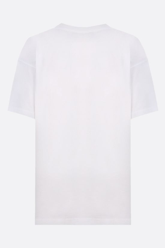 MOSCHINO: oversize Moschino Couture! print cotton t-shirt Color White_2