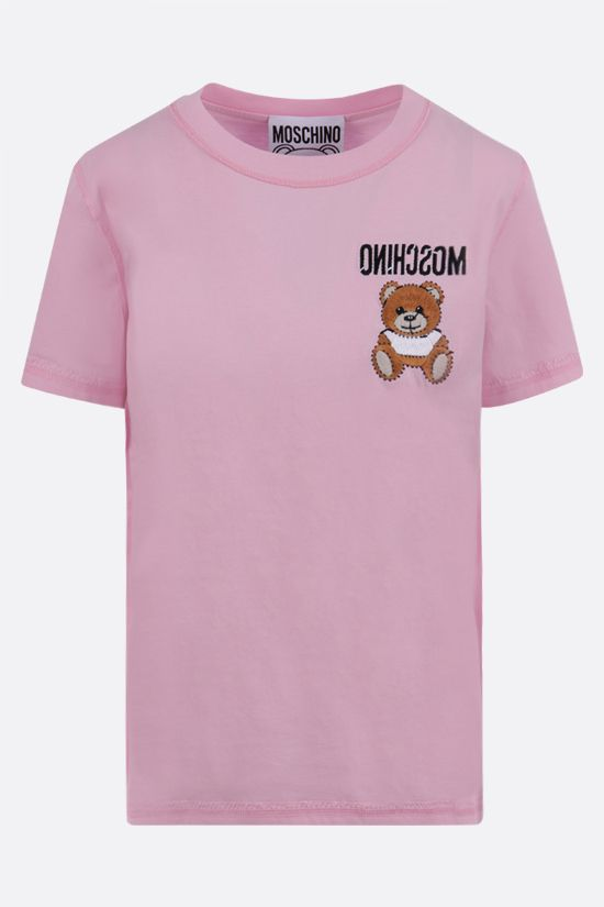 MOSCHINO: Inside Out Teddy Bear cotton t-shirt Color Pink_1