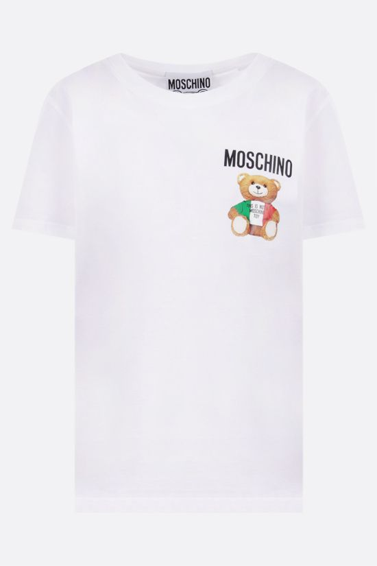 MOSCHINO: Italian Teddy Bear cotton t-shirt Color White_1