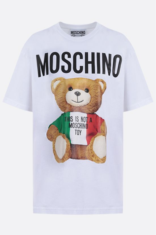 MOSCHINO: ItalianTeddy Bear cotton t-shirt Color White_1