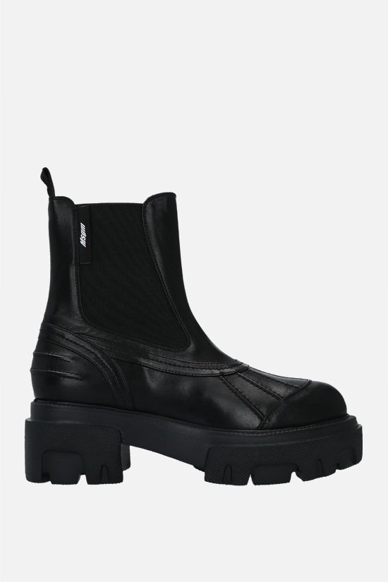MSGM: smooth leather chelsea boots Color Black_1