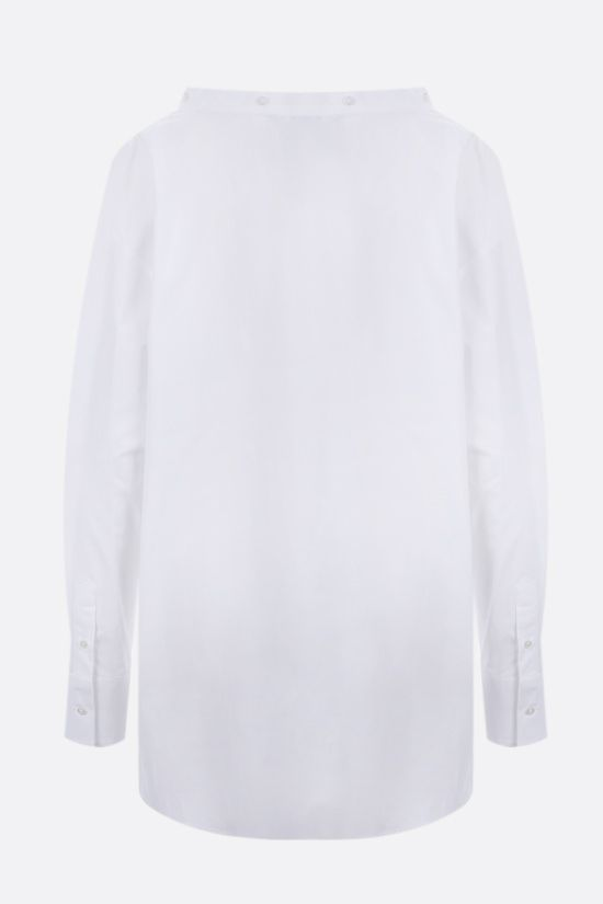 MSGM: knot-detailed oversize poplin shirt Color White_2