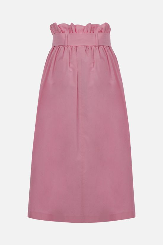 MSGM: slit-detailed poplin midi skirt Color Pink_2
