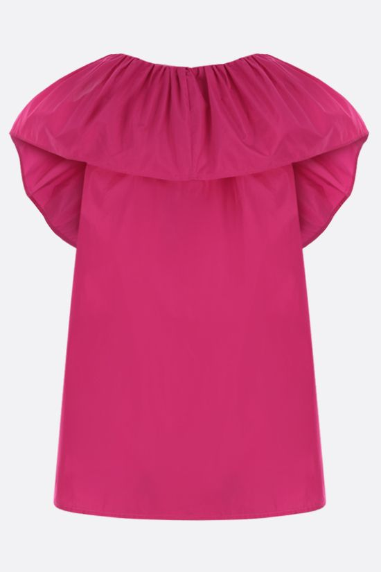 MSGM: ruffled taffeta top Color Purple_2