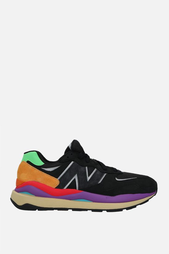 NEW BALANCE: 57/40 sneakers in a mix of materials Color Black_1