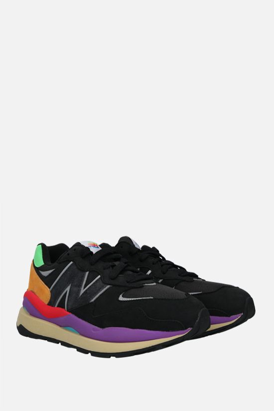 NEW BALANCE: Lifestyle sneakers in a mix of materials Color Black_2