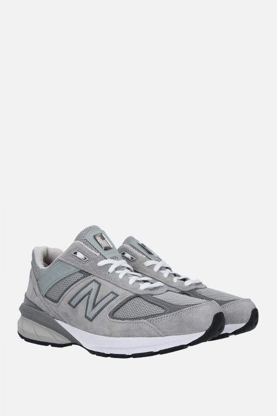 NEW BALANCE: 990V5 suede and mesh sneakers Color Grey_2