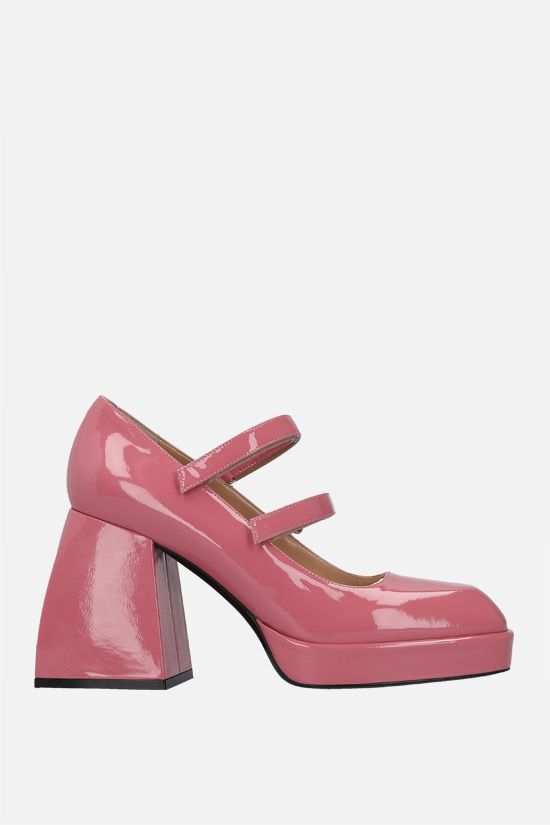NODALETO: Bulla Babies patent leather mary-jane pumps Color Pink_1