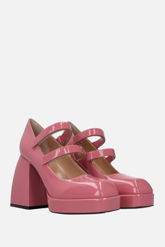 NODALETO: Bulla Babies patent leather mary-jane pumps Color Pink_2