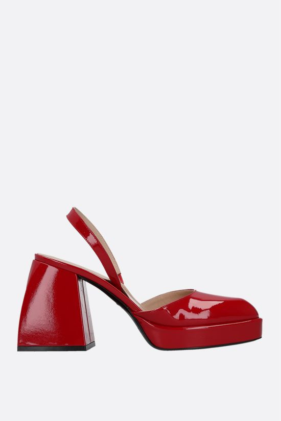NODALETO: Bulla Jones patent leather slingbacks Color Red_1