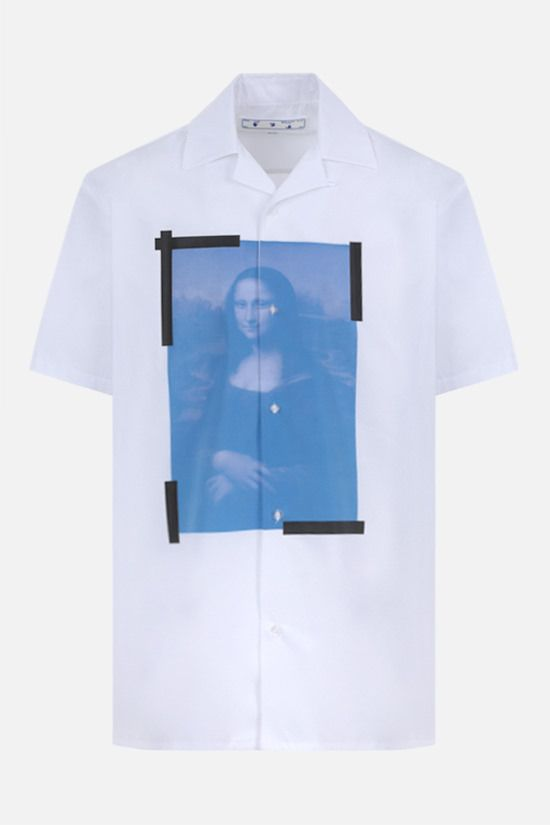 OFF WHITE: camicia bowling Monalisa Holiday in cotone Colore Bianco_1